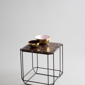 Kavos staliukas Jewel su rudo marmuro stalvirsiu