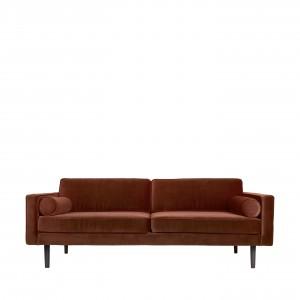 Trivietė veliūrinė sofa