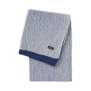 Vilnonis pledas Sunday_Throw_Lambs_wool_Stripes_Blue_White