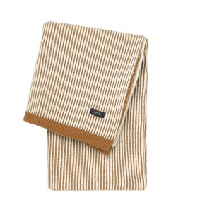 Vilnonis pledas_Sunday_Throw_Lambs_wool_Stripes_Brown_White